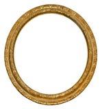Marco del óvalo del oro del cuadro Fotos de archivo libres de regalías