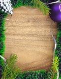 Marco del Año Nuevo y de la Navidad Imagen de archivo libre de regalías