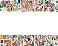Marco del ABC del periódico Imagen de archivo libre de regalías