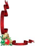 Marco del acebo de la Navidad Foto de archivo