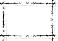 Marco del alambre de púas Fotografía de archivo libre de regalías