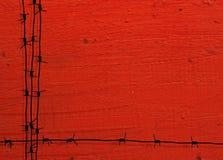 Marco del alambre de púas de Grunge Imagen de archivo