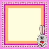 Marco del amor del conejo Foto de archivo