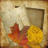 Marco del arte en el papel pintado Foto de archivo