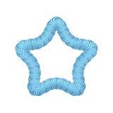 Marco del azul de la estrella de la piruleta Imagen de archivo