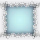 Marco del azul del copo de nieve stock de ilustración
