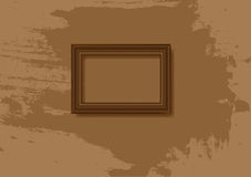 Marco del baguette de la vendimia Fotografía de archivo