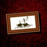 Marco del baguette de la vendimia Foto de archivo
