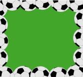 Marco del balón de fútbol Imágenes de archivo libres de regalías