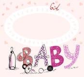 Marco del bebé Fotografía de archivo