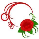 Marco del círculo con color de rosa y las curvas libre illustration
