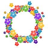 Marco del círculo con las flores para su texto Foto de archivo libre de regalías