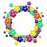 Marco del círculo con las flores para su texto Fotografía de archivo libre de regalías