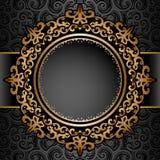 Marco del círculo del oro sobre modelo libre illustration