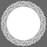 Marco del círculo Fondo del vector del cordón stock de ilustración