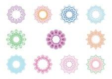 Marco del círculo del guilloquis ilustración del vector