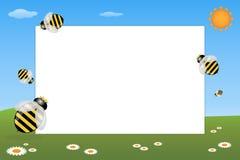 Marco del cabrito - abejas Imagen de archivo libre de regalías