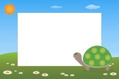Marco del cabrito - tortuga stock de ilustración