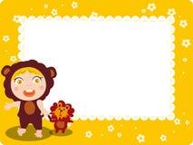 Marco del cabrito y del león stock de ilustración