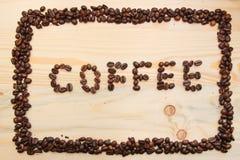 Marco del café hecho de habas Foto de archivo libre de regalías