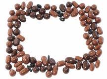Marco del café y del chocolate Foto de archivo libre de regalías