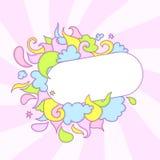 Marco del caramelo stock de ilustración