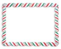 Marco del caramelo de la cinta de la Navidad Imagen de archivo