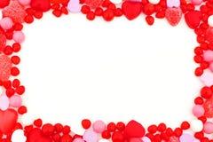 Marco del caramelo del día de tarjetas del día de San Valentín Foto de archivo libre de regalías