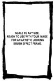 Marco del cepillo del arte de Grunge Fotografía de archivo libre de regalías
