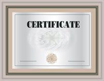 Marco del certificado Fotos de archivo libres de regalías