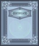 Marco del certificado Foto de archivo libre de regalías