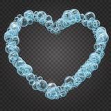 Marco del champú de las burbujas realistas del agua Fotos de archivo