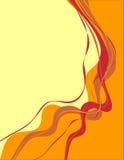 Marco del color con las cintas Imagen de archivo libre de regalías