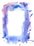 Marco del color de agua del vector Fotos de archivo libres de regalías