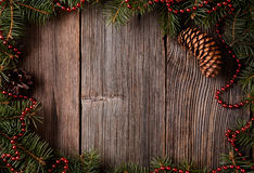 Marco del composion de la Navidad con el espacio vacío para Imagen de archivo libre de regalías