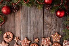Marco del composion de la Navidad con el espacio vacío para Imágenes de archivo libres de regalías