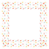Marco del confeti aislado en el fondo blanco Imágenes de archivo libres de regalías