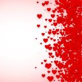Marco del confeti del corazón para la bandera Fondo de los corazones del día de tarjetas del día de San Valentín del St Ilustraci Foto de archivo