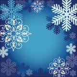 Marco del copo de nieve stock de ilustración