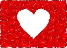 Marco del corazón Imagen de archivo