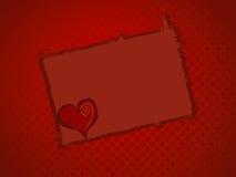 Marco del corazón Fotos de archivo