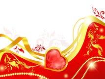 Marco del corazón Imagen de archivo libre de regalías