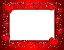 Marco del corazón Fotografía de archivo libre de regalías