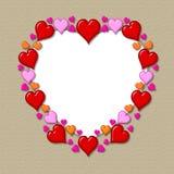 Marco del corazón fotografía de archivo