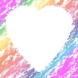 Marco del corazón Foto de archivo
