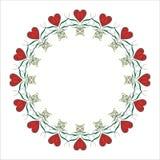 Marco del corazón de la tarjeta del día de San Valentín. ilustración del vector