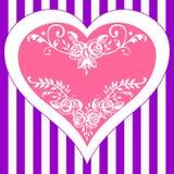 Marco del corazón de las rosas de la vendimia ilustración del vector
