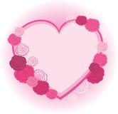 Marco del corazón de Rose Fotografía de archivo libre de regalías