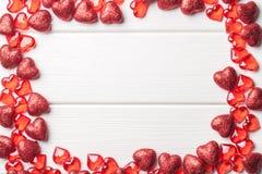 Marco del corazón en blanco Imagen de archivo libre de regalías