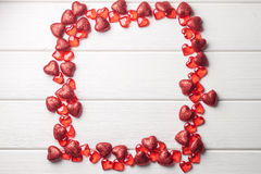 Marco del corazón en blanco Imágenes de archivo libres de regalías